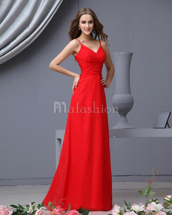 Robe rouge témoin mariage