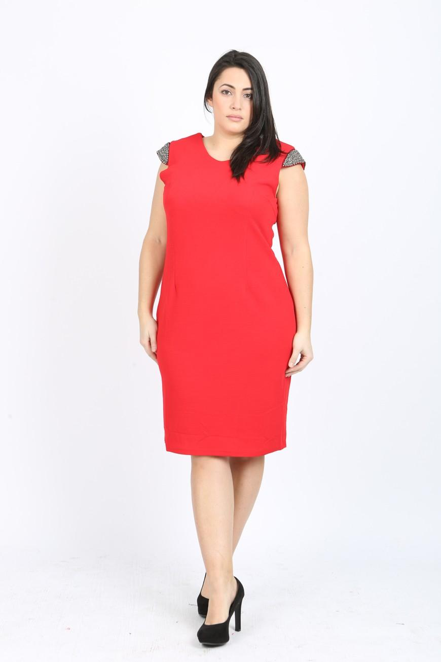 Robe rouge taille 46
