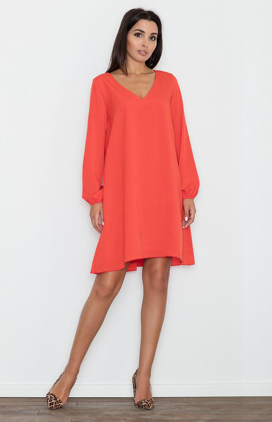 Robe rouge trapeze