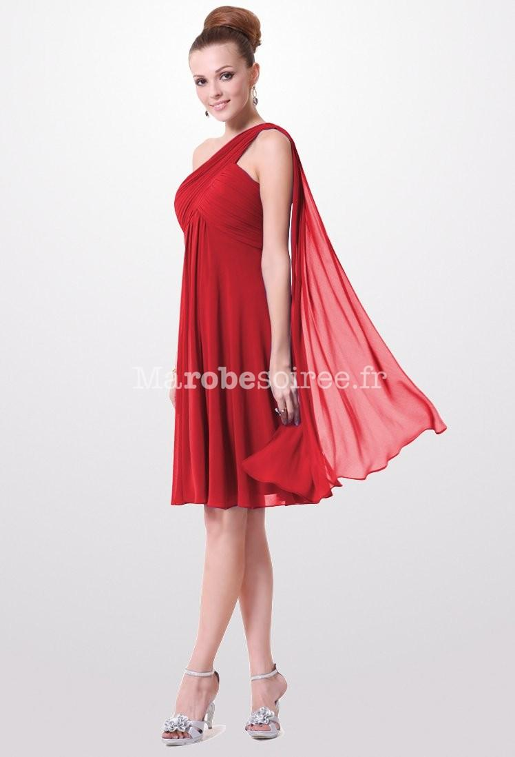 Robe rouge voile