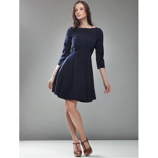 Robe simple bleu marine
