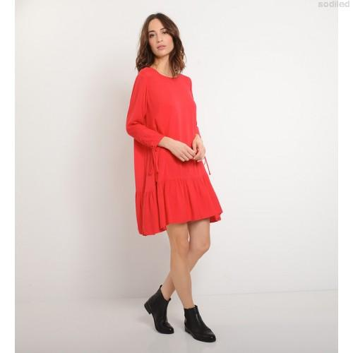 Robe trapeze rouge
