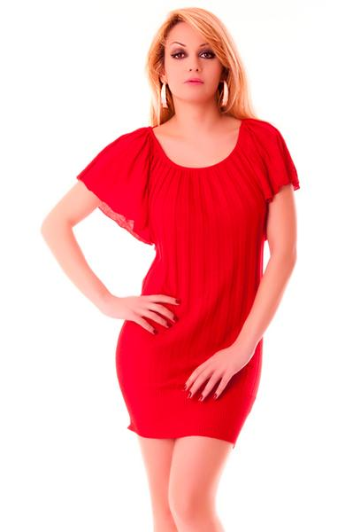 Robe tunique rouge