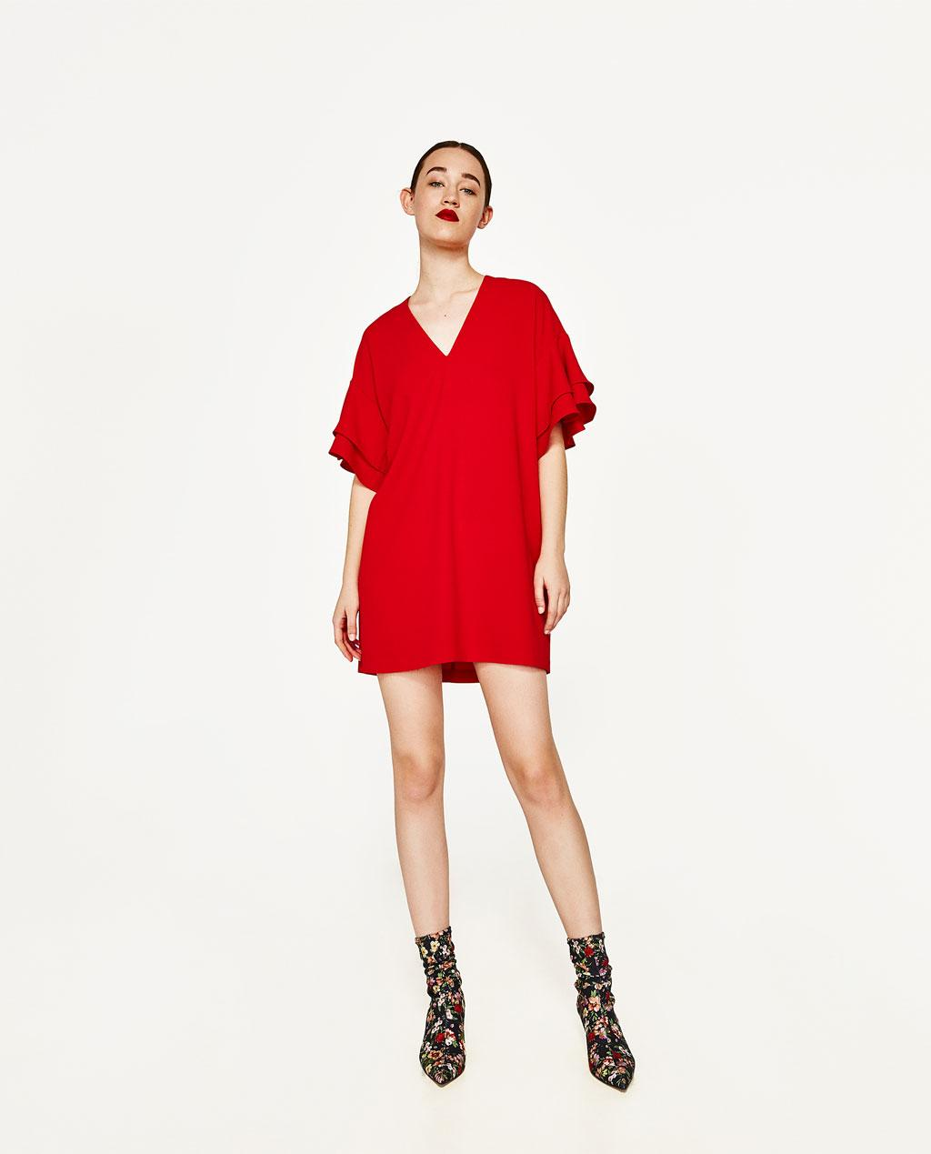 Robe zara rouge