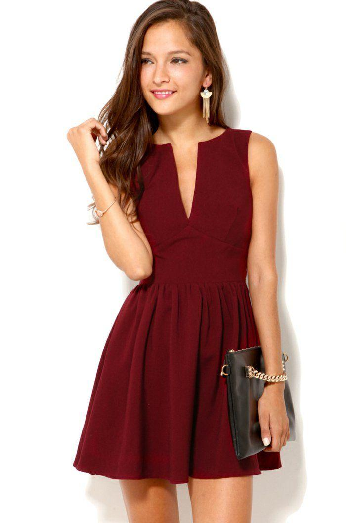 Rouge bordeaux robe