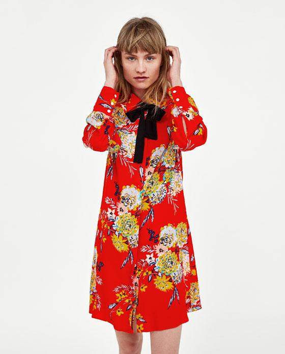 Zara robe rouge