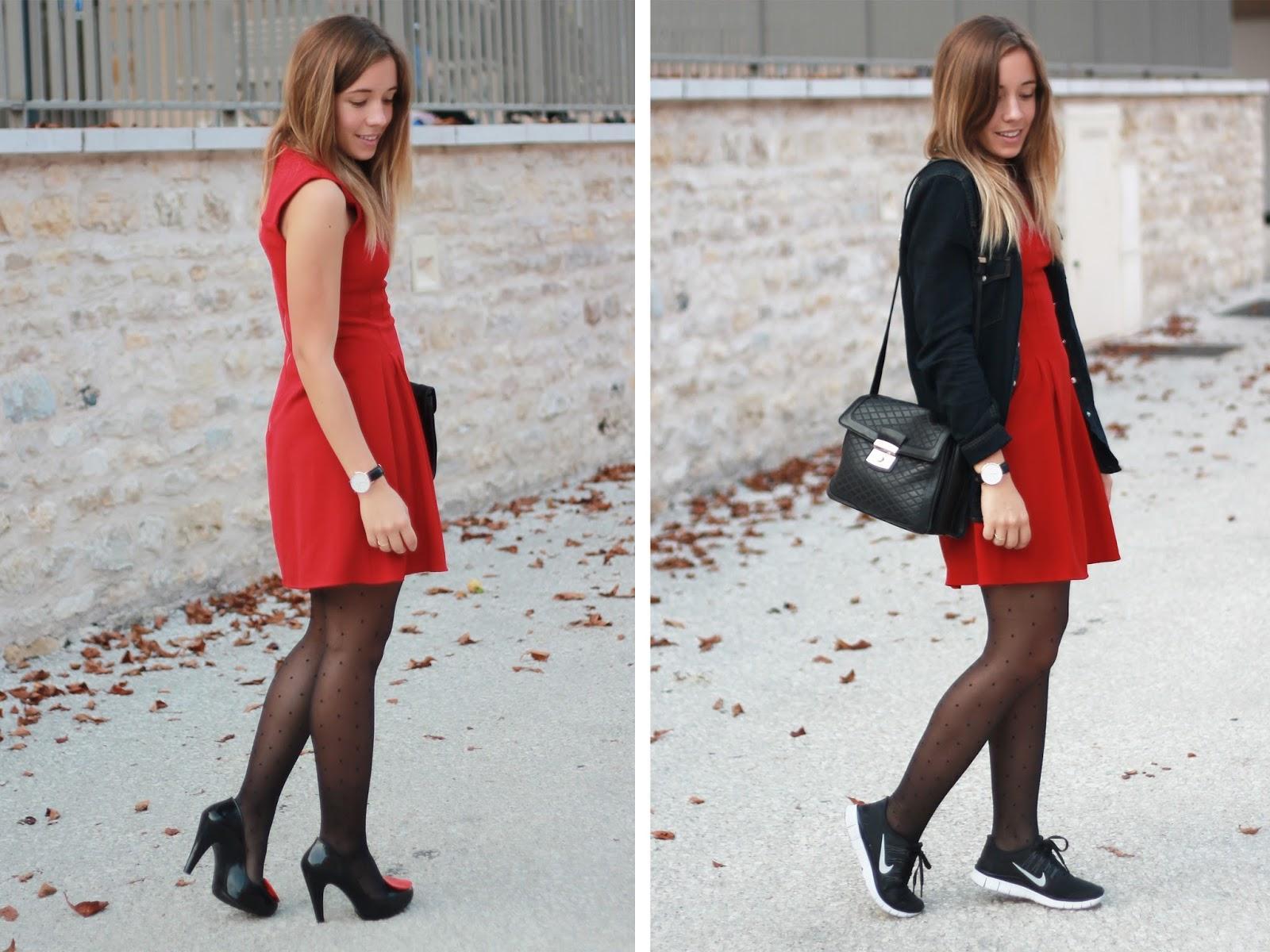 Tenue robe rouge
