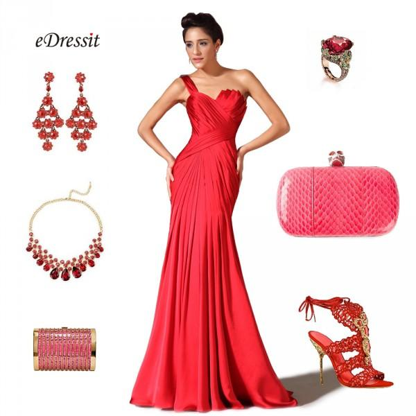 Accessoire robe rouge
