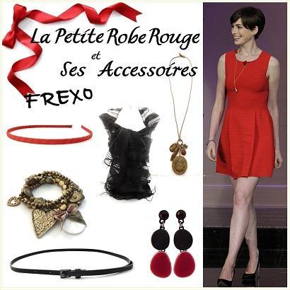 Accessoires robe rouge