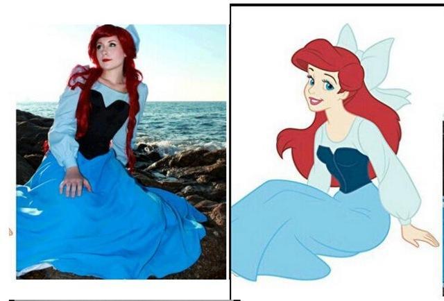 Ariel robe bleu