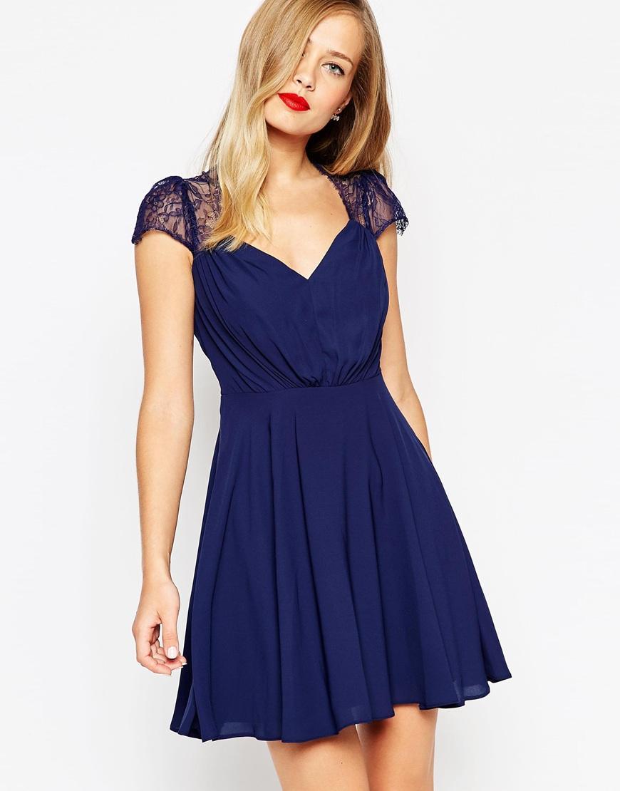 Asos robe bleu marine
