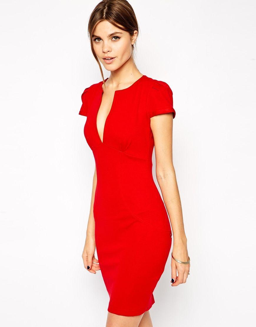 Asos robe rouge