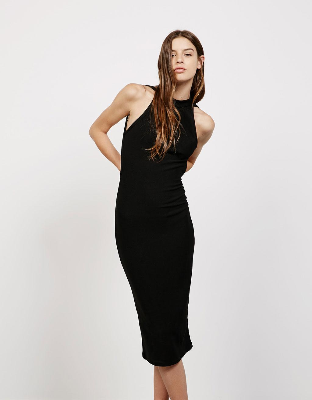 Bershka robe noir