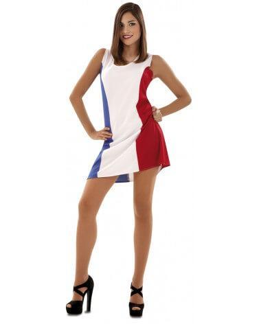 Bleu blanc rouge robe