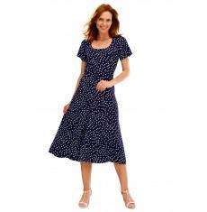 Bleu bonheur robe amincissante