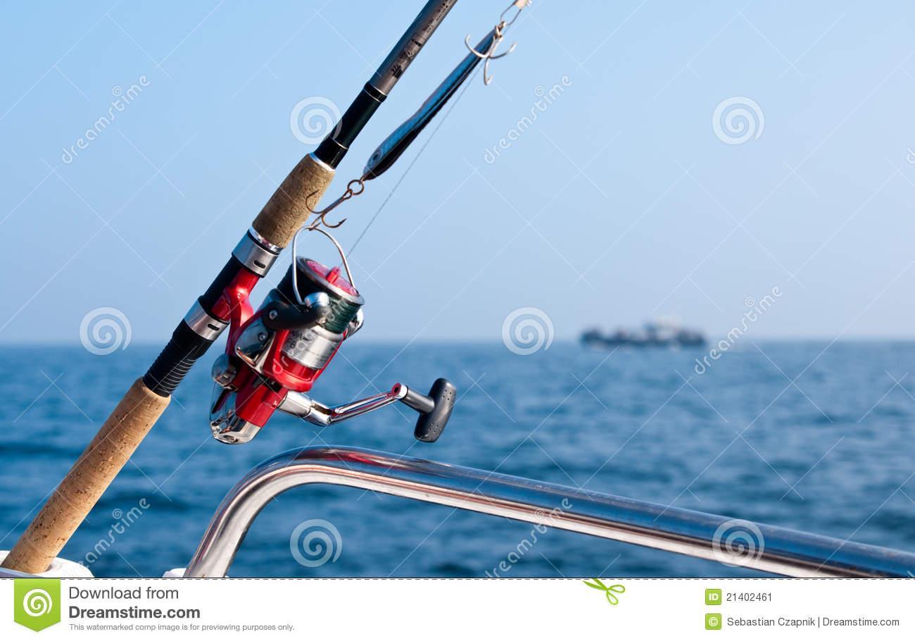 Canne a peche mer bateau