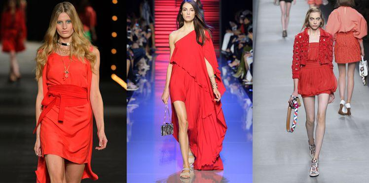 Comment porter une robe rouge