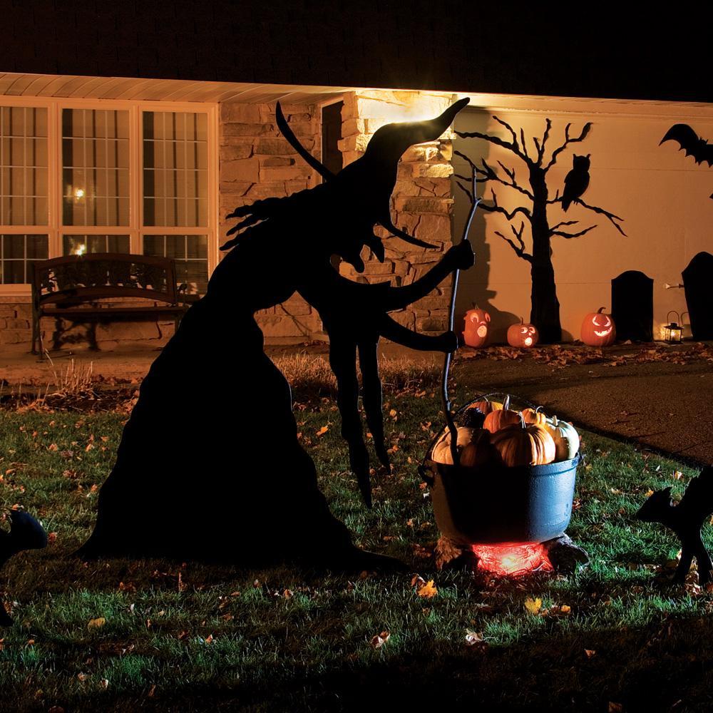 Décoration halloween extérieur sorciere