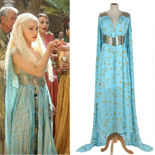 Daenerys robe bleu