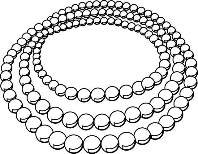 Dessin collier de perles