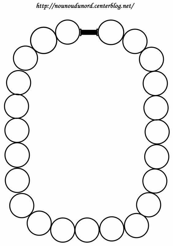 Dessin collier perles
