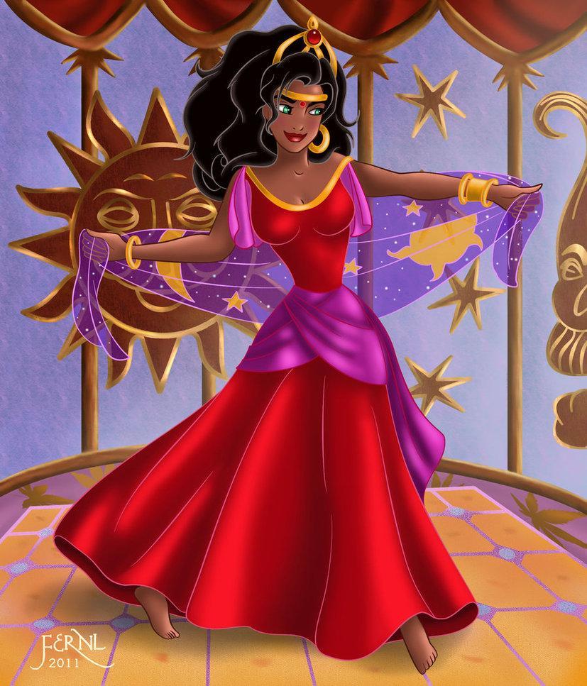 Esmeralda robe rouge