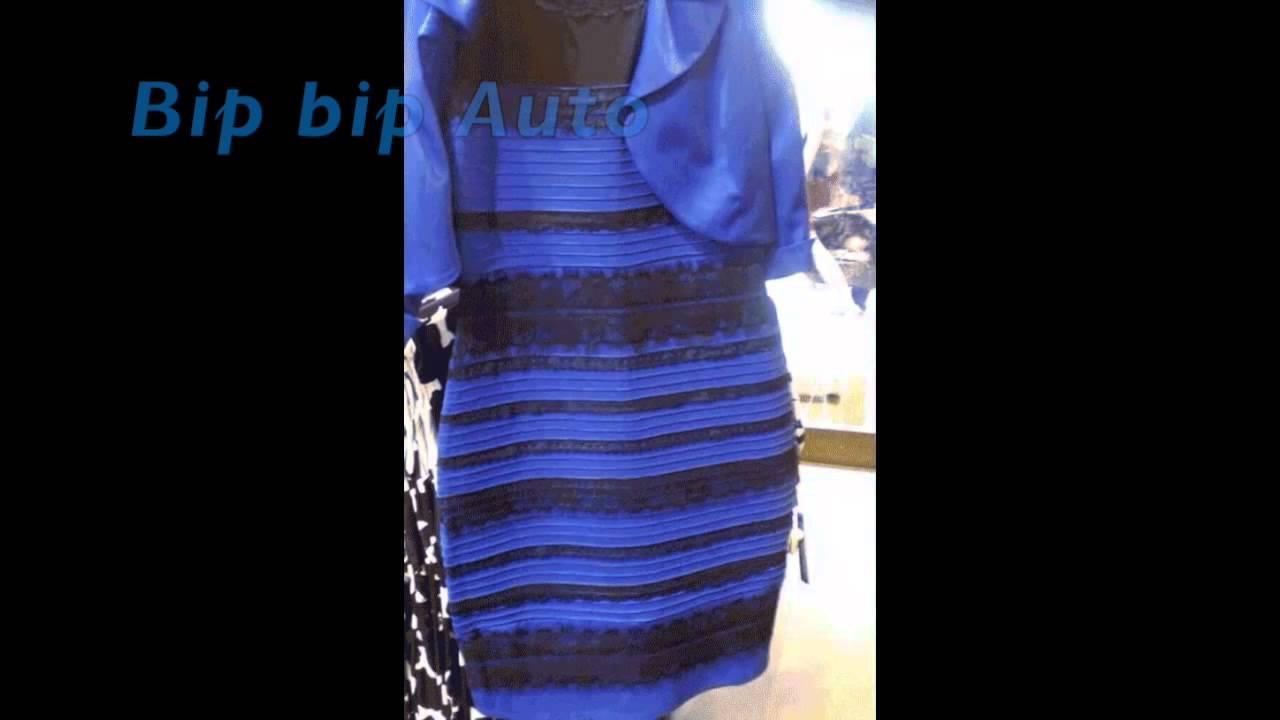 Explication robe bleu noir