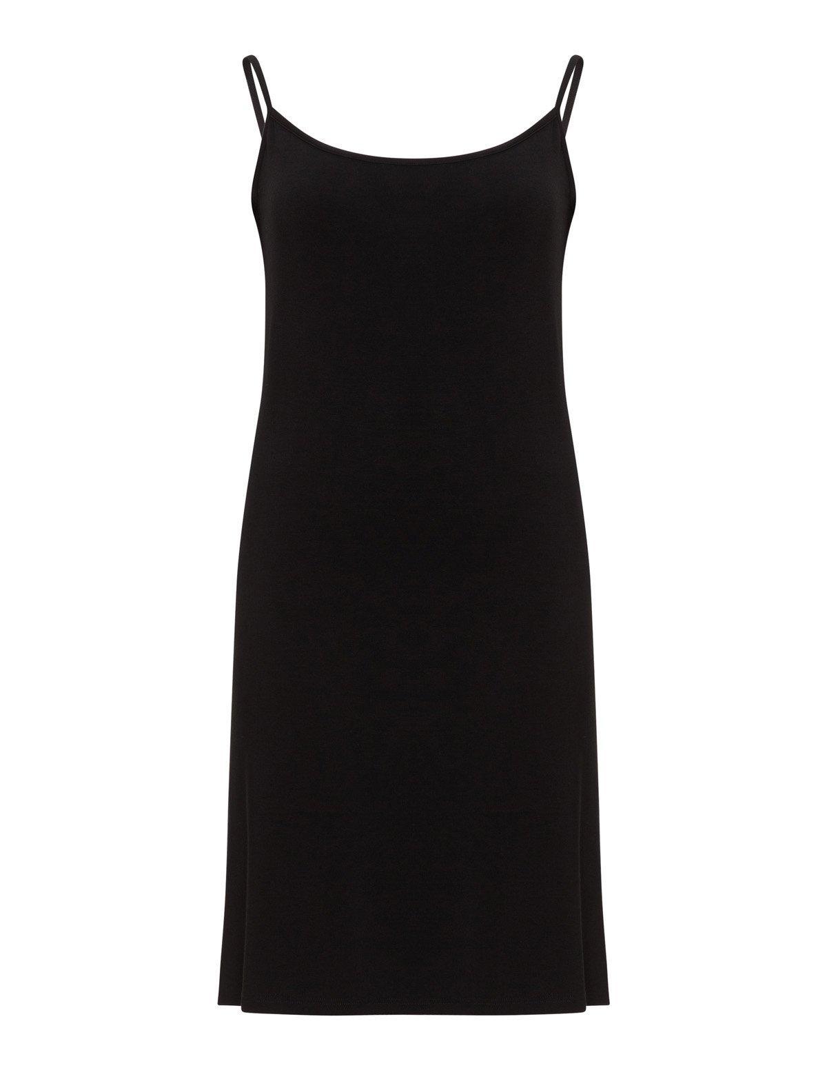 Fond de robe coton noir