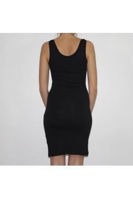 Fond de robe noir coton