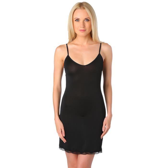 Fond de robe noir pas cher