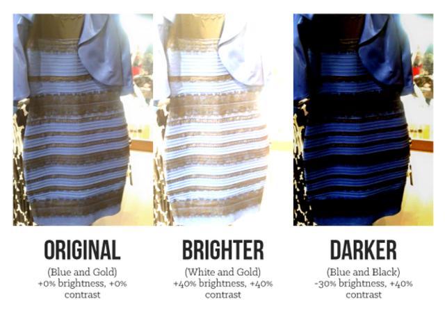Illusion d'optique robe noir et bleu