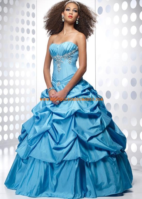 Image de robe de mariage de princesse bleu