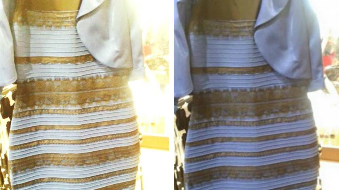 La robe bleue et noir