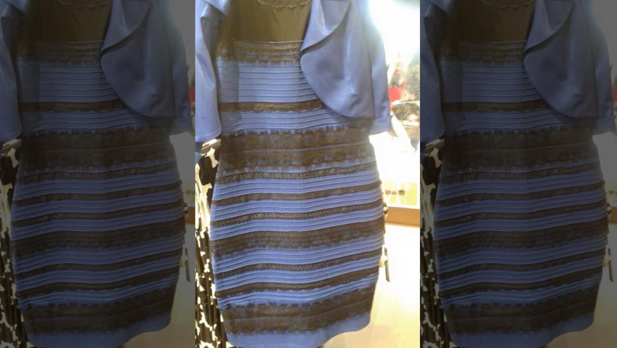 La robe noir et bleue
