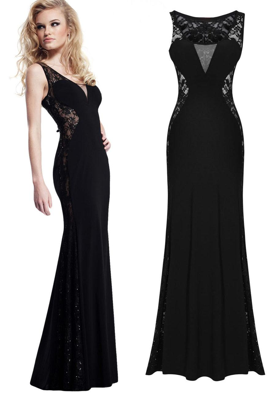 Longue robe noir