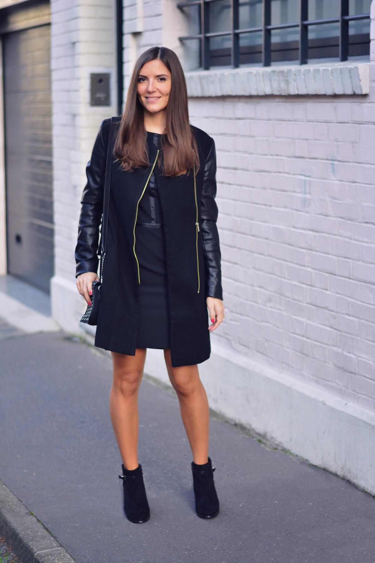 Look robe noir
