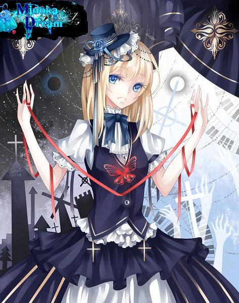 Manga fille robe noir et blanc