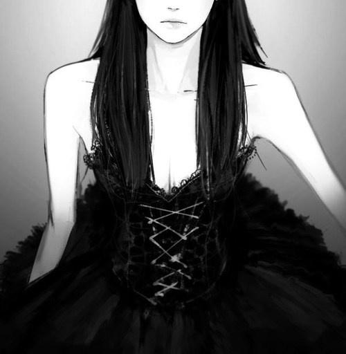 Manga robe noir