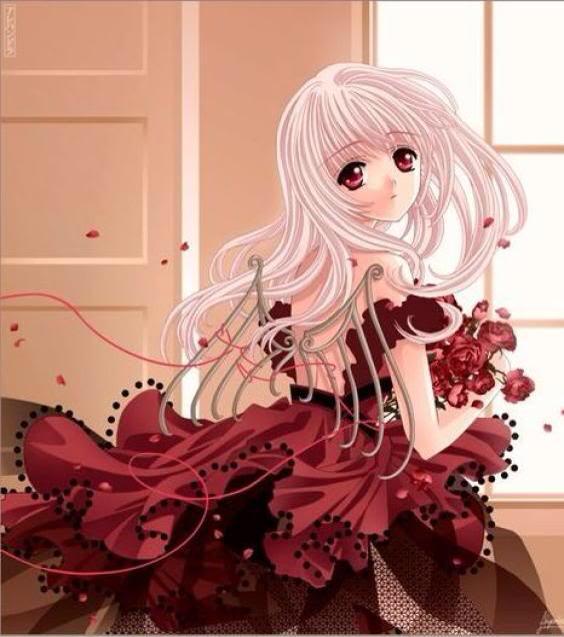Manga robe rouge