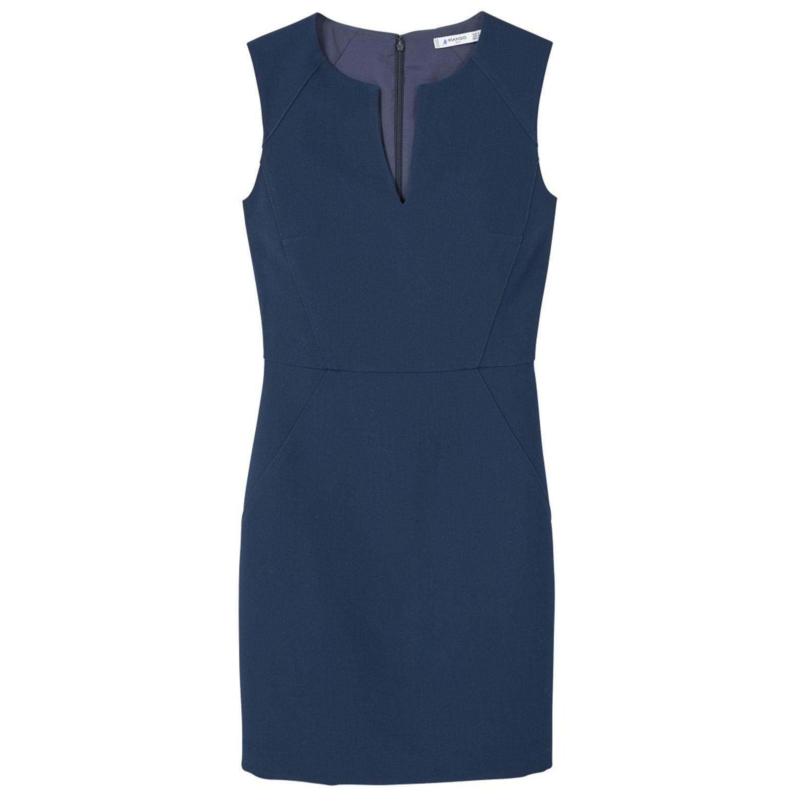 Mango robe bleu marine
