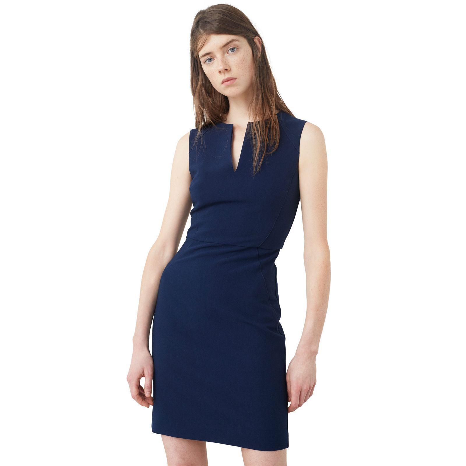 Mango robe bleu