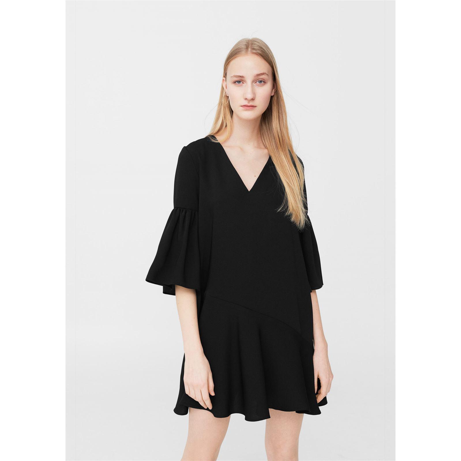 Mango robe noir