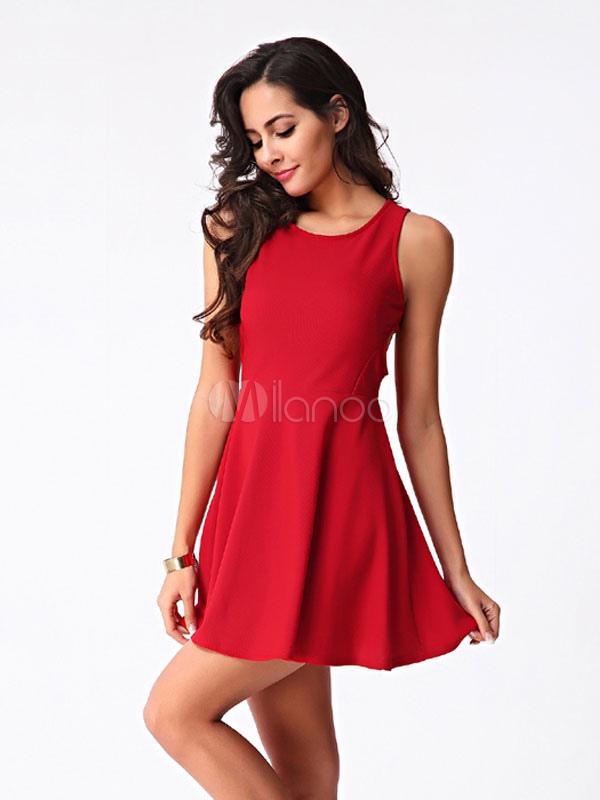 Mini robe rouge