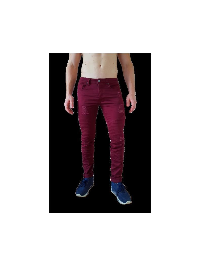 Pantacourt fashion jean plissé