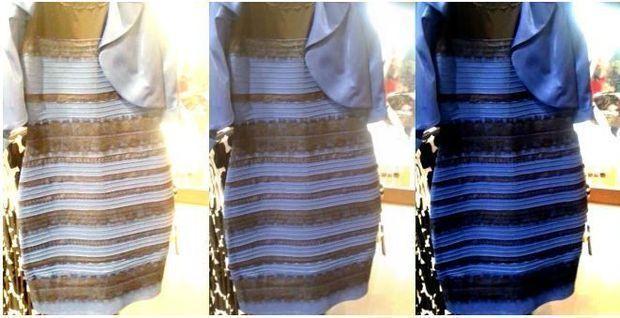 Photo robe bleu ou blanche