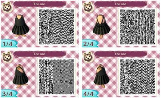 Qr code acnl robe noir