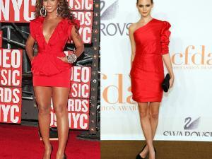 Que porter avec une robe rouge