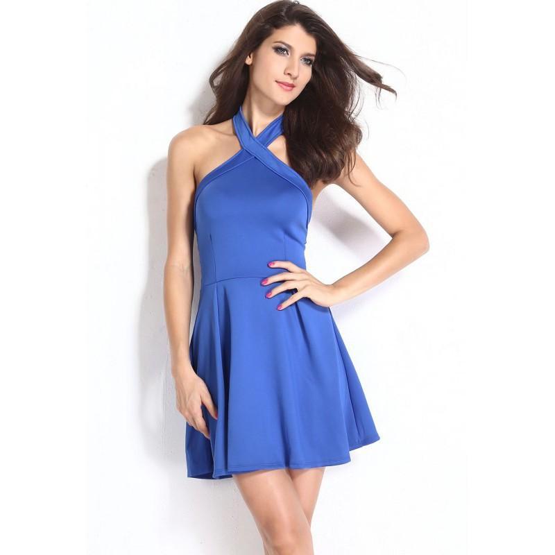 Robe été bleu