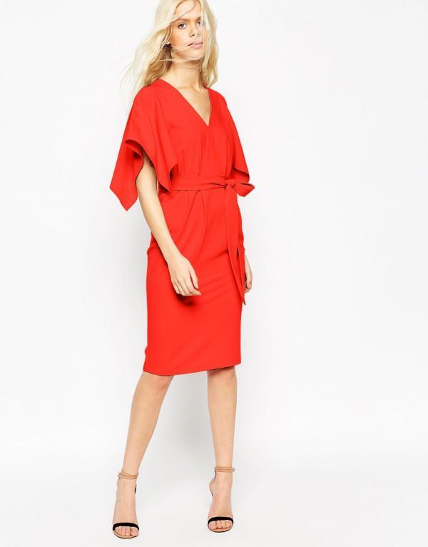 Robe asos rouge