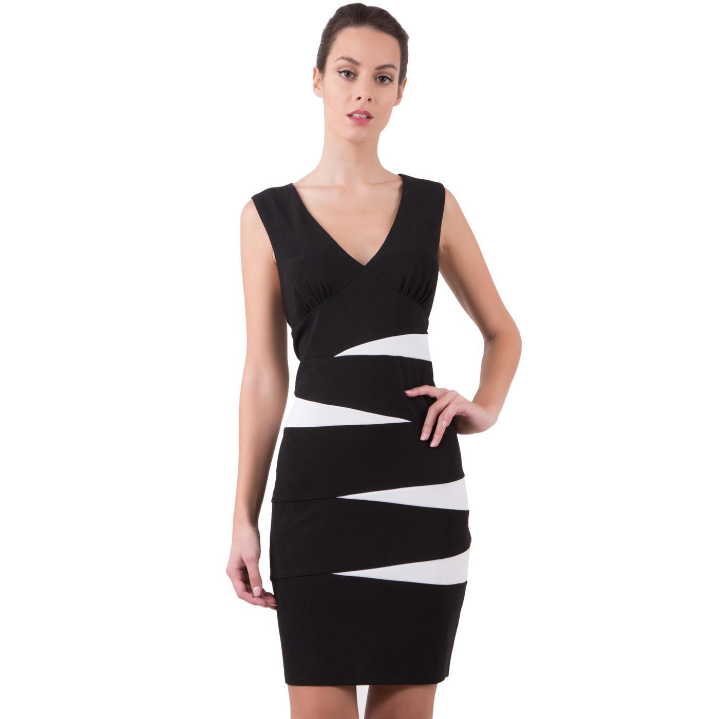 Robe bicolore noir et blanc